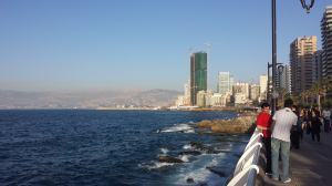 View of St. George's Bay from the Corniche Beirut