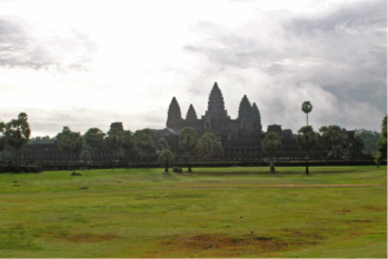Temple of Angkor Wat, the largest religious building in the world.